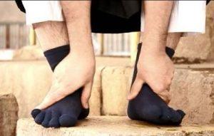 vegen over de sokken